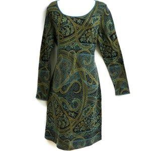 Peruvian Connection Dress Kashmiri Pima Paisley L